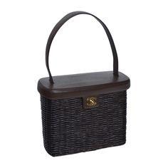 Chanel Straw Basket Vintage Handbag   From a collection of rare vintage shoulder bags at https://www.1stdibs.com/fashion/handbags-purses-bags/shoulder-bags/