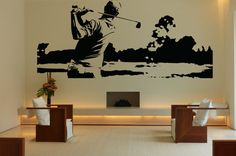 Removable Wall Room Decor Art Vinyl Sticker Mural Decal Bedroom Game Nursery Playroom Boy Poster Golf Sport Fan Club Champion Ball  FI024
