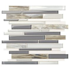Mohawk 174 Eleganza Fog 11 Quot X 14 Quot Glass And Stone Mosaic Tile