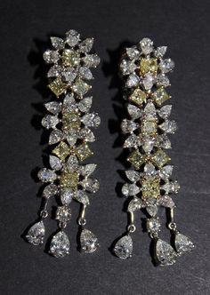 18Kt WG 11.75ct Diamond Earrings. Weighs - 10.53 dwt.