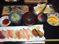 Sushi and Soba.