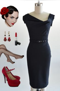 just listed! brand new item! go here: http://www.ebay.com/itm/50s-Style-BLACK-JackieO-Belted-PINUP-Wiggle-Dress-w-Asymmetrical-DRAPED-Bodice-/121060083970?pt=US_CSA_WC_Dresses==item61d10b9384