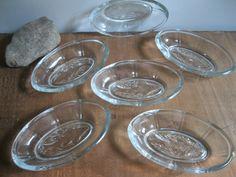 New Item! Vintage Clear Glass Fish Bowls-Set Of 6-Fisherman…