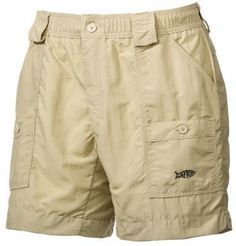 AFTCO Original Fishing Shorts for Men - Khaki - 36