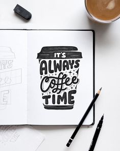 coffee drawing Its always coffee time! Thank you so much for all your votes from my last post! Using the amazing Grid Builder by Calligraphy Quotes Doodles, Brush Lettering Quotes, Doodle Quotes, Hand Lettering Quotes, Creative Lettering, Bullet Journal Quotes, Bullet Journal Writing, Bullet Journal Inspiration, Doodle Art Drawing