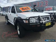 2003 Nissan Navara D22 ST-R (4x4) White Manual 5sp M Dual Cab Pick-up #nissan #navara #forsale #australia