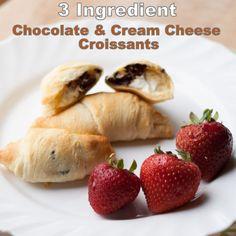 Chocolate Cream Cheese Croissants