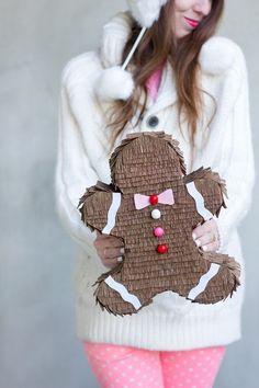Make a gingerbread man piñata! see more at http://blog.blackboxs.ru/category/christmas/