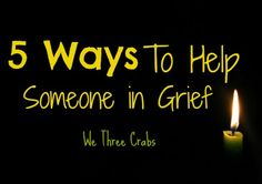 We all want to help, but do you really know what to do when someone close to you is experiencing grief? I talk about 5 simple things you can do.