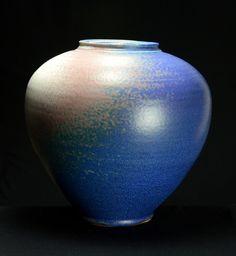 Porcelana mate florero azul |  Mano arrojado porcelana en un torno de alfarero.  Fired alta, cono 10, Mate Azul Cobalto esmalte, Mano arreglada, de cerámica |  Cerámica Caldwell