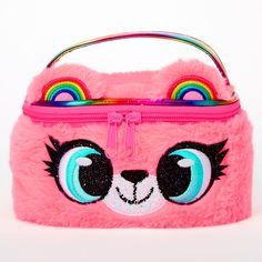 Let Izzy the bear store your beauty essentials in her bright pink makeup bag! It has a zipper closure and a top handle perfect for traveling.Dimensions: W x H x DClosure: ZipperMaterial: PVC/Vinyl - Claire's Izzy the Bear Makeup Bag - Pink Bear Makeup, Pink Makeup Bag, Cute Makeup Bags, Barbie Pegasus, Justice Makeup, Justice Bags, Unicorn Pencil Case, Disney Handbags, Girls Accessories