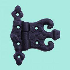 4 Wrought Iron Hinge Black Rustproof Door or Cabinet