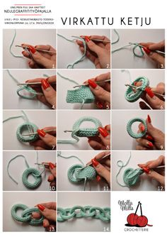 podkins:  mollamills:  This is how yarn chain is made, simple technique and the result looks super cool.   Very cool reblog from Molla Mills.  Love it!