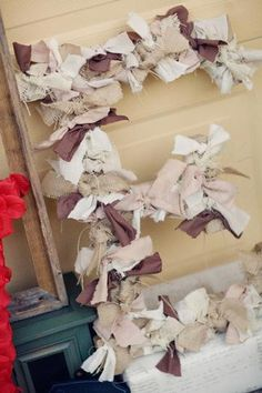 I am going to do this but with brown and pink for the girls letter wall above their beds.
