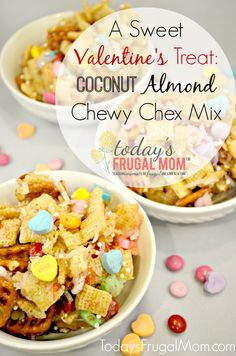 A Sweet Valentine's Treat: Coconut Almond Chewy Chex Mix Recipe