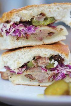 Belgium Beer-Braised Pork Pressed Sandwich with Mustardy Slaw