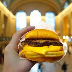 Breakfast Sandwich from Shake Shack in Grand Central Terminal, #Manhattan, #NewYork