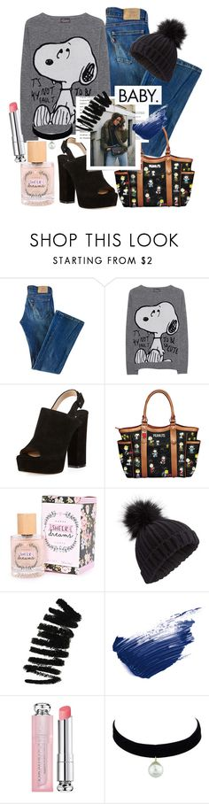 """Baby Snoopy"" by eversmile ❤ liked on Polyvore featuring Levi's, Princess Goes Hollywood, Paul Andrew, The Bradford Exchange, Miss Selfridge, Bobbi Brown Cosmetics, By Terry, Dansk and Christian Dior"