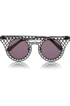 House of Holland|Cagefighters round-frame latticed metal sunglasses