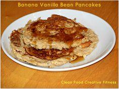 Banana Vanilla Bean Pancakes, via @cleanfoodcf