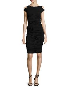 Cyclades Cold-Shoulder Sheath Dress, Black by Bailey 44 at Neiman Marcus.