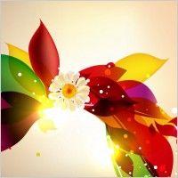 Resumen de colores del diseño floral de fondo vector