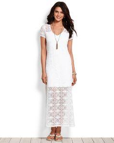 Tommy Bahama - Crochet Lace T-Shirt Maxi Dress