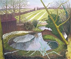 John Nash's painting of a pond