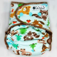Cloth Diaper AI2 Medium Long Wind Pro  Forest by LittleBoppers
