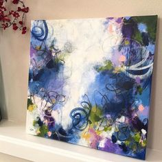 """661 Likes, 12 Comments - Paulette Insall Abstract Art (@pauletteinsall) on Instagram: """" Allow yourself to fully feel the emotions that beauty stirs up, whether from a haunting piece of…"""""""
