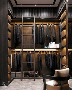 "Portfolio: An elegant apartment in the residential complex ""Sadovye kvartaly"" Walk In Closet Design, Wardrobe Design, Closet Designs, Wardrobe Closet, Closet Space, Mens Closet Organization, Organization Ideas, Grand Dressing, Apartments In Dubai"