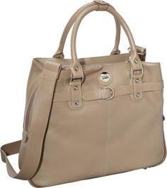 Jill-e Designs E-GO Leather Career Bag Starfish - Taupe - via eBags.com!