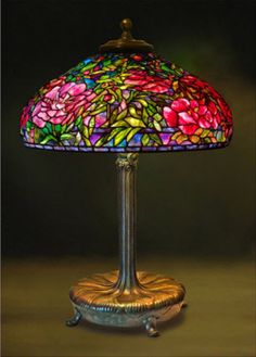 Tiffany lamp by Clara Driscoll  perfect for table with flowers and candles