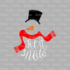 Let It Snow Snowman SVG DXF EPS, snowman files, christmas svg, christmas files, svg for cricut, silhouette file, cutting files, winter svg by JenDzines on Etsy https://www.etsy.com/listing/487487739/let-it-snow-snowman-svg-dxf-eps-snowman