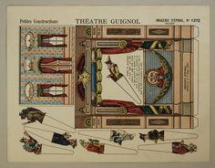 Petites Constructions. Théatre Guignol. Imagerie d'Épinal, No. 1372.