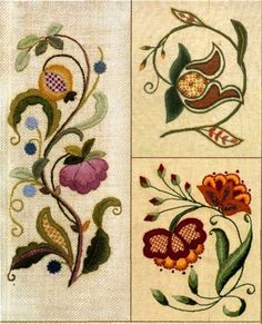 Beautiful crewel embroidery