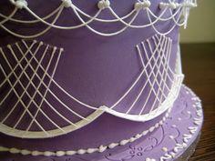 Royal icing cake decoration