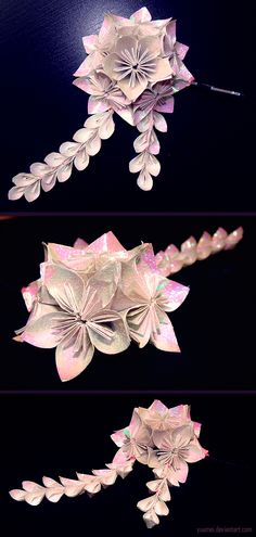 Kusudama Hair Pin by yuumei.deviantart.com