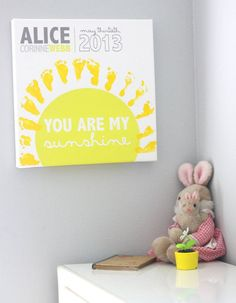 You are my sunshine footprints on canvas - Add your ...