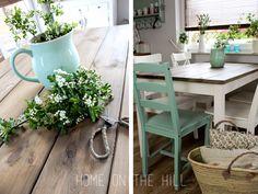 stół z desek DIY