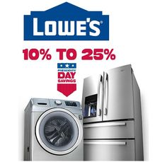 Lowe's Presidents' Day Sale 2015 + $20 off coupon!