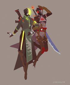 Warlock designs by Freichou Destiny Ii, Destiny Bungie, Destiny Game, Destiny Hunter, Character Concept, Character Art, Concept Art, Character Design, Sci Fi Armor