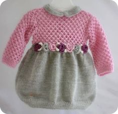 visual result related to handmade children's clothes – Kids Fashion Baby Knitting Patterns, Knitting For Kids, Crochet For Kids, Knitting Designs, Baby Patterns, Knitting Ideas, Dress Patterns, Baby Sweaters, Little Girl Dresses