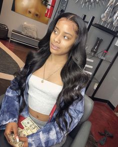 Indian Virgin Hair Body Wave 3 Bundles With 360 Lace Remy Human Hair Extensions Baddie Hairstyles, Black Girls Hairstyles, Weave Hairstyles, Hairdos, Remy Human Hair, Human Hair Extensions, Lace Front Wigs, Lace Wigs, Wigs With Bangs