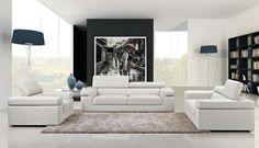 Divani Casa 8020 - Modern Bonded Leather Sofa Set - Stylish Design Furniture