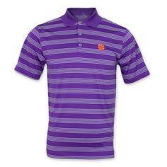 Clemson Tigers Nike Golf Men's Stripe Polo - Purple #clemson