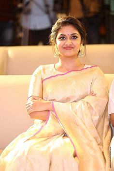 Keerthy Suresh at Pandem Kodi 2 Trailer Launch - South Indian Actress Beautiful Girl Indian, Most Beautiful Indian Actress, Beautiful Girl Image, Beautiful Saree, Beautiful Heroine, Bollywood Actress Hot Photos, Beautiful Bollywood Actress, Actress Photos, Indian Designer Outfits