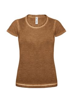 B&C DNM PLUG IN TEE (TWD71) Rusty Women's T-shirt  denim look. #Denim #Tshirt http://www.connex.no/t-skjorter---dametopper---sport-og-trening.html