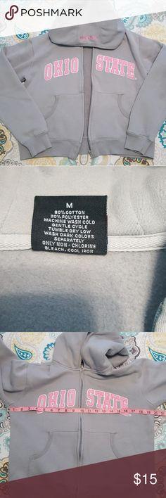 Med grey and pink Ohio State hoodie Medium College issue grey and pink Ohio State hoodie. Tops Sweatshirts & Hoodies