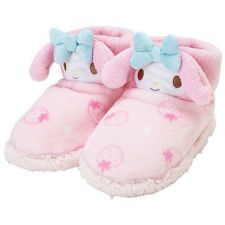 JAPAN SANRIO MY MELODY PLUSH PINK ROOM SLIPPER BOOTS WARM SHOES 161161